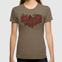 With The Roses Womens Fitted Tee Tri-Coffee SMALL