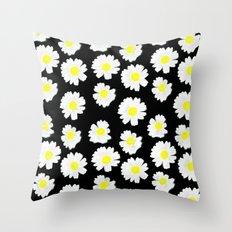 Flowering On Black Throw Pillow