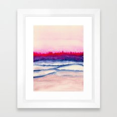 Watercolor abstract landscape 29 Framed Art Print