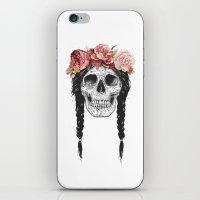 Festival skull iPhone & iPod Skin