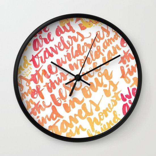 We are all travelers... Wall Clock