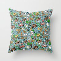 Adventure Supplies Throw Pillow