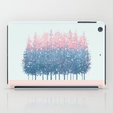 pink and blue trees iPad Case