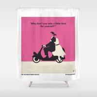 No205 My Roman Holiday minimal movie poster Shower Curtain
