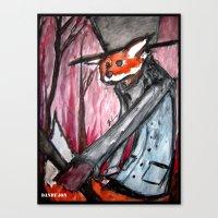 The Wandering Dandy Fox Canvas Print