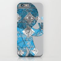 iPhone & iPod Case featuring mesmerized by the light blue diamond by Brandon Ortwein