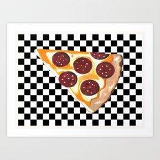 Eat Pizza  Art Print