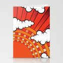Red Ray Stationery Cards