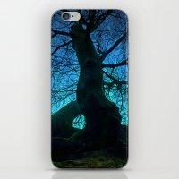 Tree under a spangled sky (light) iPhone & iPod Skin