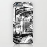 iPhone Cases featuring Foden Steam Lorry Vintage by David Pyatt