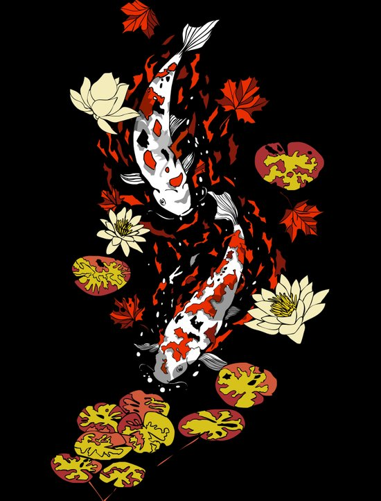 FALLING FISHES Art Print