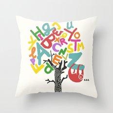 Sleep All Day (A-Z) Throw Pillow