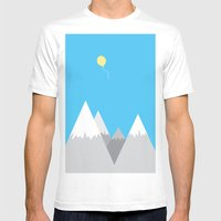 Up, up and away Mens Fitted Tee White SMALL