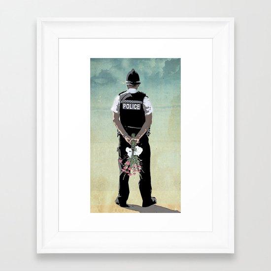 long arm Framed Art Print