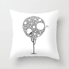 In my tree  Throw Pillow