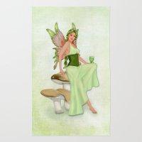 Absinthe The Green Fairy Rug
