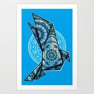 Mandala Bird Monochromat… Art Print