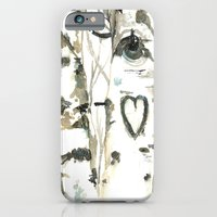 iPhone & iPod Case featuring Winter Romance Birch Forest  by Sarah Rose Storm