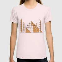 Pyramids Womens Fitted Tee Light Pink SMALL