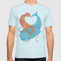 Hug It Out Mens Fitted Tee Light Blue SMALL