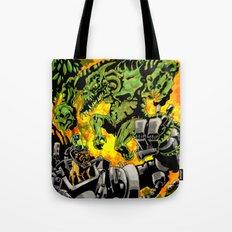 Doktor Steampug Versus Gorillizard! Tote Bag