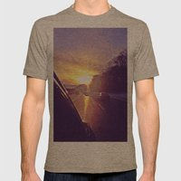 Sunset Blv. Mens Fitted Tee Tri-Coffee SMALL