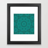 Beautiful mandala in teal and green Framed Art Print