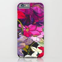 Black Parrot Tulips iPhone 6 Slim Case