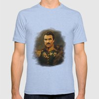 Tom Selleck - replaceface Mens Fitted Tee Tri-Blue SMALL