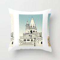 Fisherman's Bastion - Budapest - Hungary Throw Pillow