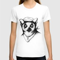 Hipster Lemur Womens Fitted Tee White SMALL