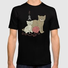 Naughty Cats Mens Fitted Tee Black SMALL