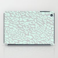 mint & gray leopard iPad Case