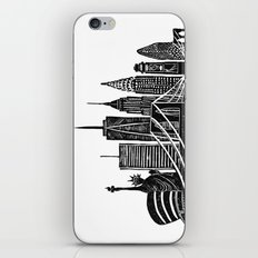 Linocut New York iPhone & iPod Skin