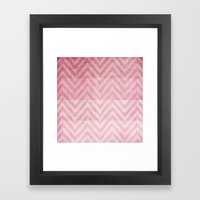Pink Chevron II Framed Art Print