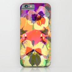 Colourful grunge Pansies Slim Case iPhone 6s