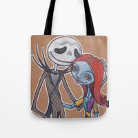 Jack and Sally Tote Bag