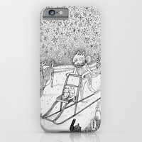 iPhone & iPod Case featuring Kick-sledding Fox by Ulrika Kestere