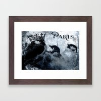 Paris Birds Framed Art Print