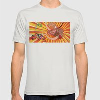 Julia Mens Fitted Tee Silver SMALL