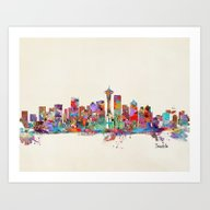 Seattle Washington Skyli… Art Print