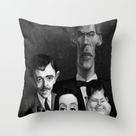 Throw Pillow featuring Addams Family by Alexander Novoseltse…