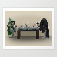 Star Poker Game Art Print