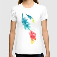feather T-shirts featuring Feather by Freeminds