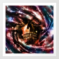 Space Skull II Art Print