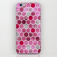 Pink Ink - Watercolor He… iPhone & iPod Skin