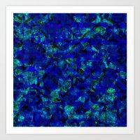 Vitrage (Blue) Art Print