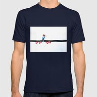 Tis The Season - Kingfisher Mens Fitted Tee Navy SMALL
