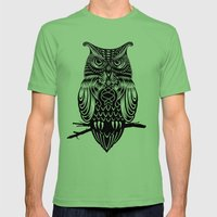 Owl of Cairo Mens Fitted Tee Grass SMALL