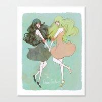 Dream Sisters Canvas Print